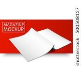 blank magazine mockup template. ... | Shutterstock .eps vector #500508127