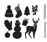 winter icons collection... | Shutterstock .eps vector #500508385