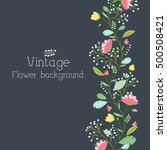 set of shape and heart frame... | Shutterstock .eps vector #500508421