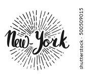 the custom hand lettering....   Shutterstock .eps vector #500509015