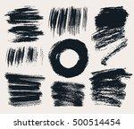 vector set of hand drawn brush... | Shutterstock .eps vector #500514454