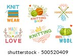 colored isolated hand made knit ... | Shutterstock .eps vector #500520409