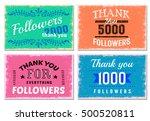four square thank you followers ... | Shutterstock .eps vector #500520811
