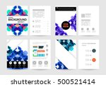 geometric background template... | Shutterstock .eps vector #500521414