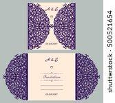 wedding invitation or greeting... | Shutterstock .eps vector #500521654
