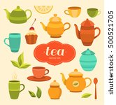tea collection of vector... | Shutterstock .eps vector #500521705