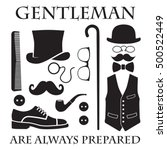 gentleman are always prepared ... | Shutterstock .eps vector #500522449