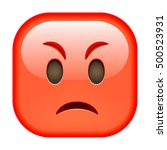 Angry Red Emoticon. Angry Emoj...