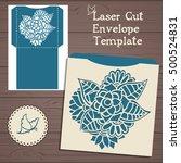 lasercut vector wedding...   Shutterstock .eps vector #500524831