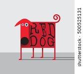 vector illustration with flat... | Shutterstock .eps vector #500525131