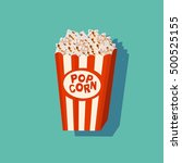 cinema popcorn cartoon isolated ... | Shutterstock .eps vector #500525155