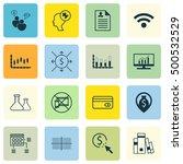 set of 16 universal editable... | Shutterstock .eps vector #500532529