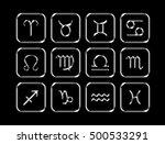 silver astrological zodiac... | Shutterstock . vector #500533291