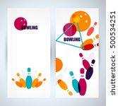 bowling poster. ball pins | Shutterstock .eps vector #500534251