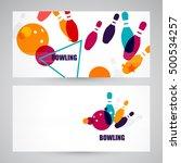 bowling poster. ball pins | Shutterstock .eps vector #500534257