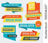 big sale banners  labels ... | Shutterstock .eps vector #500536207