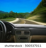 view from salon of car going on ... | Shutterstock . vector #500537011