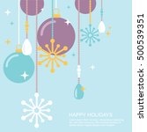 simple christmas ornaments and... | Shutterstock .eps vector #500539351
