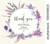 vector vintage floral greeting... | Shutterstock .eps vector #500540815