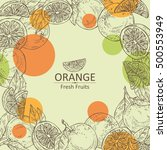 background with orange and... | Shutterstock .eps vector #500553949