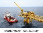 offshore construction platform... | Shutterstock . vector #500560339