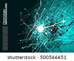 hi tech circuits industrial... | Shutterstock .eps vector #500566651