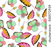 seamless pattern of tropical...   Shutterstock .eps vector #500572939