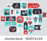 christmas advent calendar  hand ... | Shutterstock .eps vector #500576134