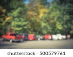 Blurred Image Busy Trailhead...
