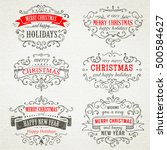 christmas hand drawing frames | Shutterstock .eps vector #500584627