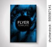 abstract flyer design. vector... | Shutterstock .eps vector #500587141