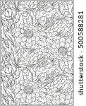 floral  pattern. flower... | Shutterstock .eps vector #500588281