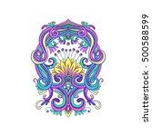 ornamental floral element for... | Shutterstock .eps vector #500588599