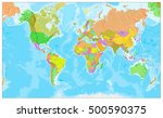 highly detailed physical world... | Shutterstock .eps vector #500590375