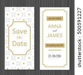 modern wedding invitation with...   Shutterstock .eps vector #500591227