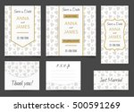 beautiful wedding set of... | Shutterstock .eps vector #500591269