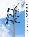 power poles with wires... | Shutterstock . vector #500599717