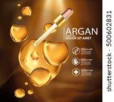 argan oil serum skin care...   Shutterstock .eps vector #500602831
