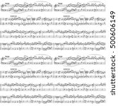 Abstract Music Sheet On White ...