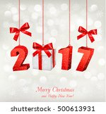 christmas background with a... | Shutterstock .eps vector #500613931