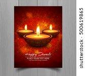 colorful happy diwali brochure | Shutterstock .eps vector #500619865