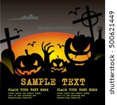 halloween border for text | Shutterstock .eps vector #500621449