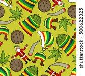 rastaman pattern. rasta santa... | Shutterstock .eps vector #500622325