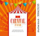 entertainment carnival funfair... | Shutterstock .eps vector #500625235