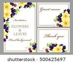 vintage delicate invitation...   Shutterstock .eps vector #500625697