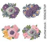 flower set | Shutterstock . vector #500628769