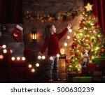 merry christmas  cute little... | Shutterstock . vector #500630239