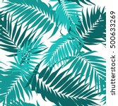 tropical camouflage seamless... | Shutterstock .eps vector #500633269