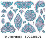 big vector set of colorful... | Shutterstock .eps vector #500635801
