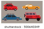 cars design collection various... | Shutterstock .eps vector #500640349
